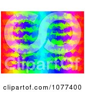 Clipart Funky Red Yellow Green And Blue Background Royalty Free CGI Illustration