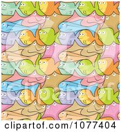 Clipart Seamless Colorful Fish Background Royalty Free Vector Illustration by Any Vector