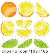 Clipart Orange Wedge Fruit Design Elements Royalty Free Vector Illustration