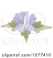 Clipart Purple Hibiscus Flower Royalty Free Vector Illustration by Any Vector