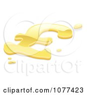 Clipart 3d Gold Pound Sterling Money Symbol Royalty Free Vector Illustration by AtStockIllustration