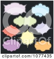 Clipart Colorful Frame And Label Design Elements Royalty Free Vector Illustration