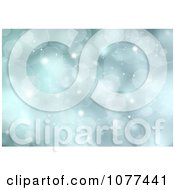 Clipart Bluish Green Bokeh Sparkle Christmas Background Royalty Free CGI Illustration