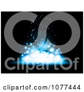 Clipart Blue Magic Lights Falling Into A Pile Royalty Free Vector Illustration