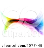 Clipart Colorful Spectrum Flowing Wave Royalty Free CGI Illustration