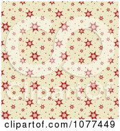 Clipart Red Seamless Snowflake Pattern Background Royalty Free Vector Illustration