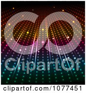 Clipart Colorful Background Of Dotted Rays Royalty Free Vector Illustration by KJ Pargeter