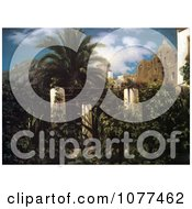 Painting Of A Garden Of An Inn Capri By Frederic Lord Leighton Royalty Free Historical Clip Art by JVPD