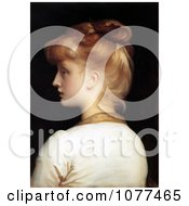 Painting Of A Red Haired Girl From Behind Looking Left By Frederic Lord Leighton Royalty Free Historical Clip Art by JVPD