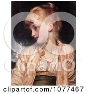 Painting Of A Girl Looking Left Gulnihal By Frederic Lord Leighton Royalty Free Historical Clip Art by JVPD