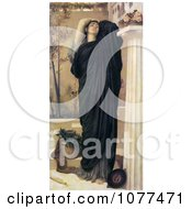 Painting Of A Electra At The Tomb Of Agamemnon By Frederic Lord Leighton Royalty Free Historical Clip Art by JVPD