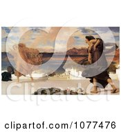 Painting Of A Greek Girls Playing At Ball By Frederic Lord Leighton Royalty Free Historical Clip Art by JVPD