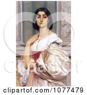 Painting Of A Roman Woman La Nanna By Frederic Lord Leighton Royalty Free Historical Clip Art by JVPD