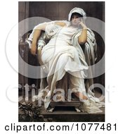 Painting Of A Woman Seated In A Chair Faticida By Frederic Lord Leighton Royalty Free Historical Clip Art by JVPD