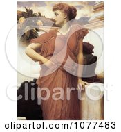 Painting Of A Woman Looking Over Her Shoulder At The Fountain By Frederic Lord Leighton Royalty Free Historical Clip Art