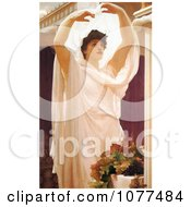 Painting Of A Beautiful Woman In The Sunlight Invocation By Frederic Lord Leighton Royalty Free Historical Clip Art
