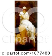 Painting Of A Lone Woman Titled Solitude By Frederic Lord Leighton Royalty Free Historical Clip Art
