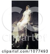 Painting Of The Spirit Of The Summit By Frederic Lord Leighton Royalty Free Historical Clip Art