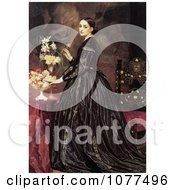Painting Of A Woman And Flowers Mrs James Guthrie By Frederic Lord Leighton Royalty Free Historical Clip Art
