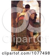Painting Of A Couple Embracing Wedded By Frederic Lord Leighton