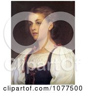 Painting Of A Portrait Of A Girl Biondina By Frederic Lord Leighton Royalty Free Historical Clip Art