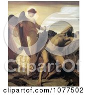 Painting Of Elijah In The Wilderness By Frederic Lord Leighton Royalty Free Historical Clip Art