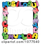 Clipart Colorful Letter School Frame Royalty Free Vector Illustration by visekart