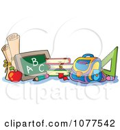Clipart School Items Royalty Free Vector Illustration by visekart