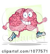 Clipart Jogging Brain Character Royalty Free Vector Illustration