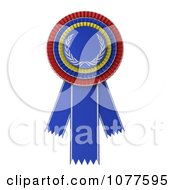 Clipart 3d Blue Red And Yellow Rosette Award Ribbon Royalty Free CGI Illustration