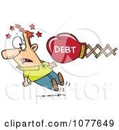Clipart Debt Boxing Glove Knocking Out A Man Royalty Free Vector Illustration