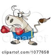 Clipart Bullfighter Bull Boxer Royalty Free Vector Illustration