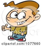 Clipart Thumbs Up Boy Royalty Free Vector Illustration