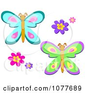 Flowers And Butterflies 3
