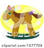 Clipart Brown Rocking Horse Royalty Free Vector Illustration by bpearth