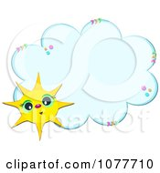Clipart Sun And Cloud Frame Royalty Free Vector Illustration by bpearth
