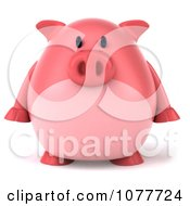 Clipart 3d Chubby Pig Facing Front Royalty Free CGI Illustration by Julos
