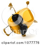 Clipart 3d Yellow Suitcase Wearing Shades And Cartwheeling Royalty Free CGI Illustration