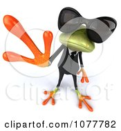 Clipart 3d Business Springer Frog Waving Wearing Shades And A Suit 2 Royalty Free CGI Illustration