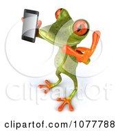 Clipart 3d Springer Frog Holding A Mobile Phone 4 Royalty Free CGI Illustration