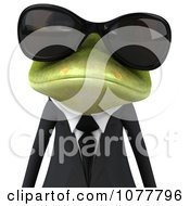 Clipart 3d Business Springer Frog Wearing Shades And A Suit 1 Royalty Free CGI Illustration