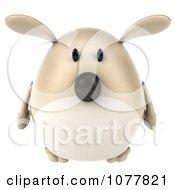 Clipart 3d Chubby Tan Dog Facing Front Royalty Free CGI Illustration