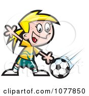 Clipart Girl Soccer Player 1 Royalty Free Vector Illustration by jtoons