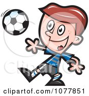 Clipart Boy Soccer Player 1 Royalty Free Vector Illustration by jtoons