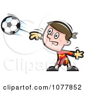 Clipart Boy Soccer Player 2 Royalty Free Vector Illustration by jtoons