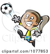 Clipart Girl Soccer Player 2 Royalty Free Vector Illustration