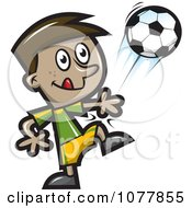 Clipart Boy Soccer Player 3 Royalty Free Vector Illustration by jtoons