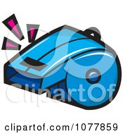 Clipart Soccer Whistle Royalty Free Vector Illustration by jtoons