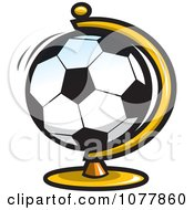 Clipart Soccer Desk Globe Royalty Free Vector Illustration