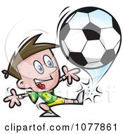 Clipart Boy Soccer Player 4 Royalty Free Vector Illustration